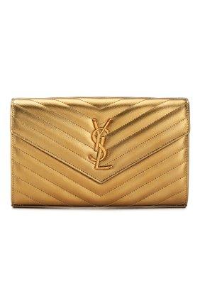 Женская сумка monogram classic SAINT LAURENT золотого цвета, арт. 377828/03X27 | Фото 1