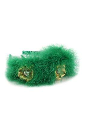 Женский ободок для волос DOLCE & GABBANA зеленого цвета, арт. FY310Z/FU1CK | Фото 2