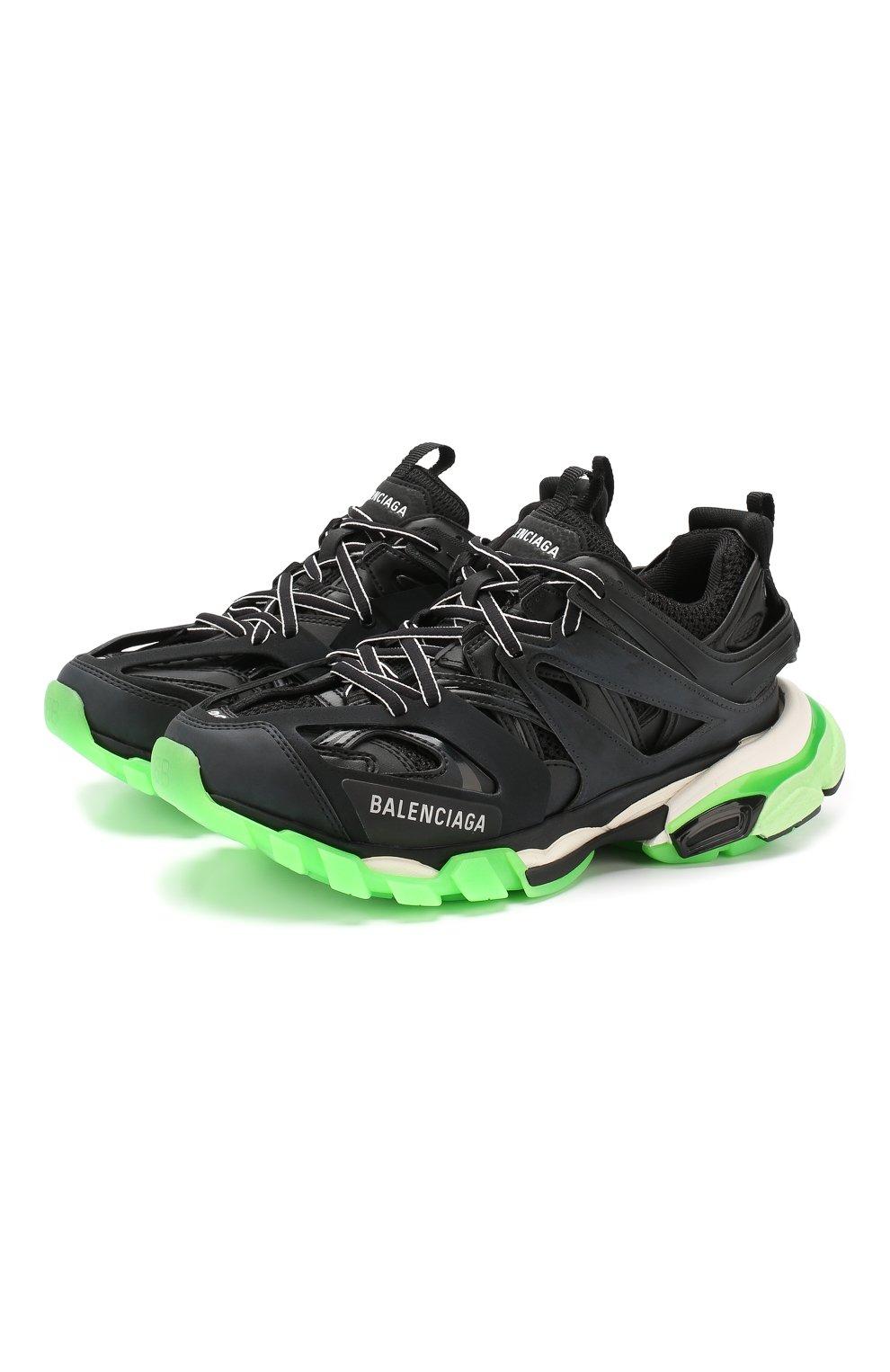 Женские текстильные кроссовки track BALENCIAGA черного цвета, арт. 570390/W1GB1   Фото 1