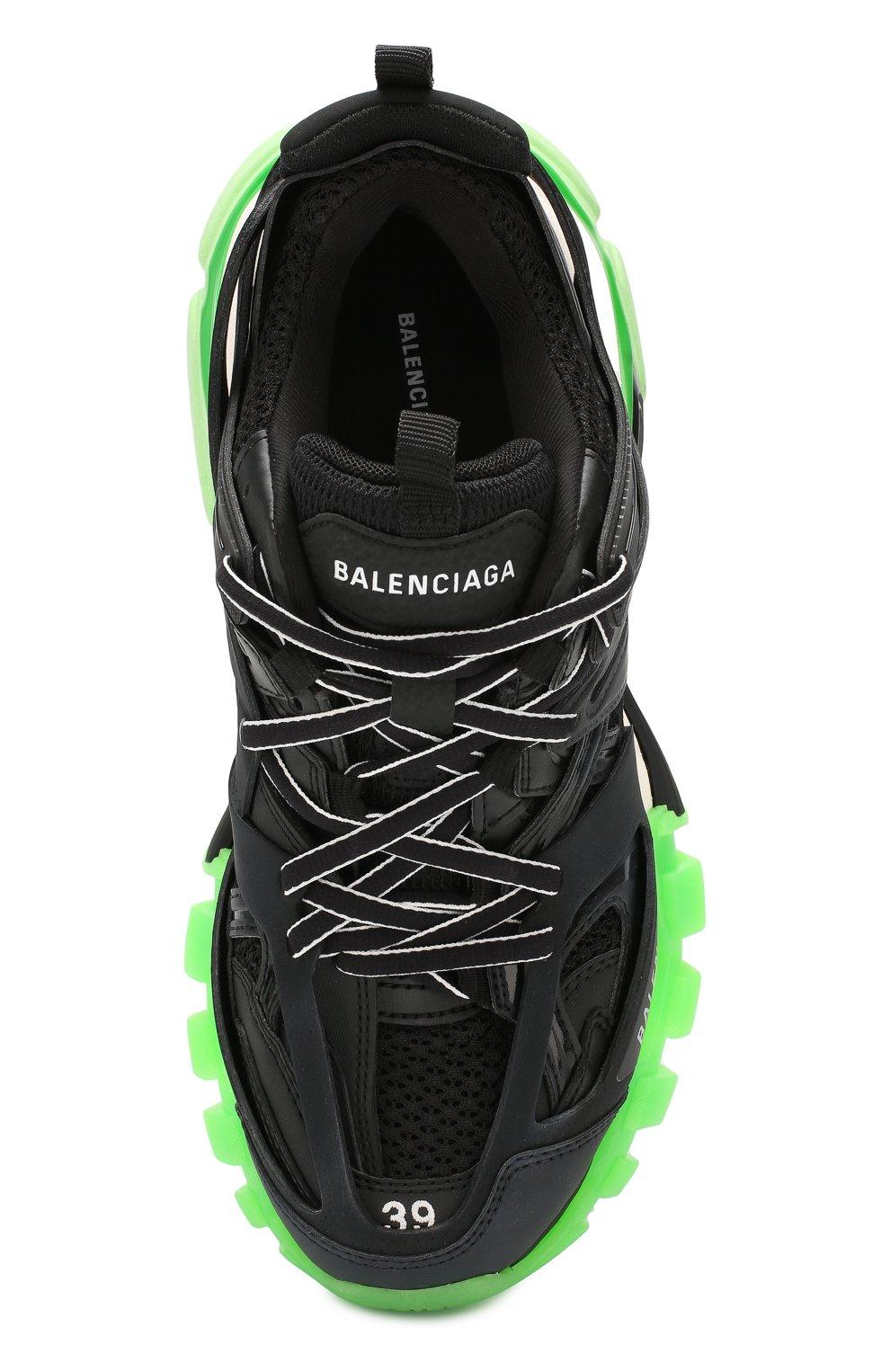 Текстильные кроссовки Track Balenciaga черные | Фото №5