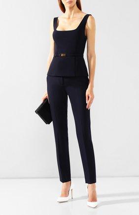 Женские шерстяные брюки RALPH LAUREN темно-синего цвета, арт. 290739790 | Фото 2