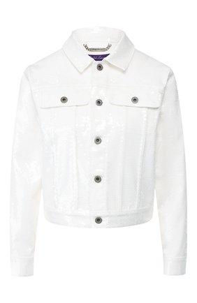 Женская куртка с пайетками RALPH LAUREN белого цвета, арт. 290756601 | Фото 1