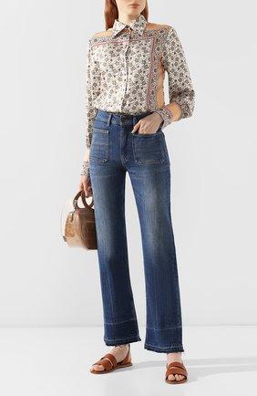 Женские джинсы POLO RALPH LAUREN синего цвета, арт. 211750478 | Фото 2