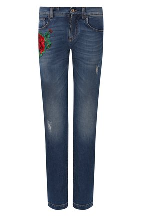 Женские джинсы DOLCE & GABBANA темно-синего цвета, арт. FTAIAZ/G898P | Фото 1