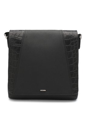 Мужская кожаная сумка ZILLI черного цвета, арт. MJL-0BM10-A0490/0001/AMIS | Фото 1