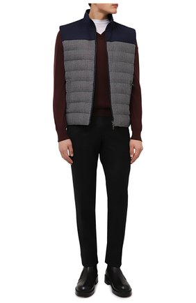 Мужской шерстяной пуловер BRIONI коричневого цвета, арт. UMQ70L/0ZK18 | Фото 2
