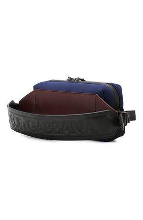 Комбинированная поясная сумка Monreale Dolce & Gabbana синяя | Фото №3