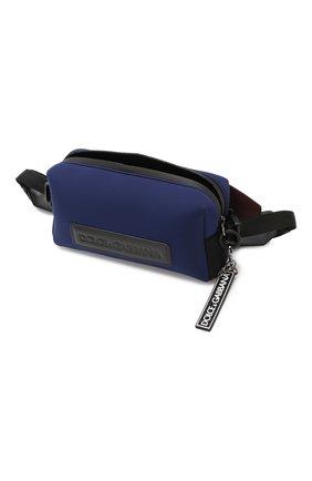 Комбинированная поясная сумка Monreale Dolce & Gabbana синяя | Фото №4