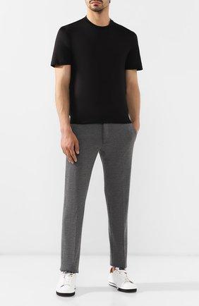 Мужская шелковая футболка BRIONI черного цвета, арт. UJCH0L/P8619 | Фото 2