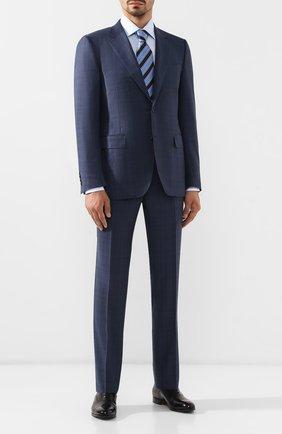 Мужской шерстяной костюм CANALI синего цвета, арт. 11280/19/BF00070 | Фото 1