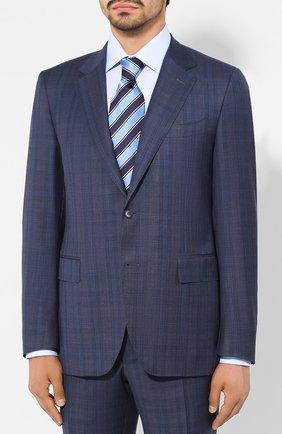 Мужской шерстяной костюм CANALI синего цвета, арт. 11280/19/BF00070 | Фото 2