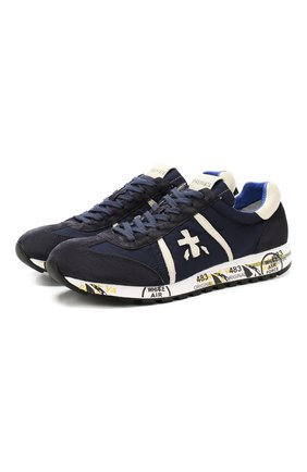 Мужские комбинированные кроссовки lucy PREMIATA темно-синего цвета, арт. LUCY/VAR2808 | Фото 1