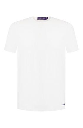 Мужская хлопковая футболка RALPH LAUREN белого цвета, арт. 790508153 | Фото 1