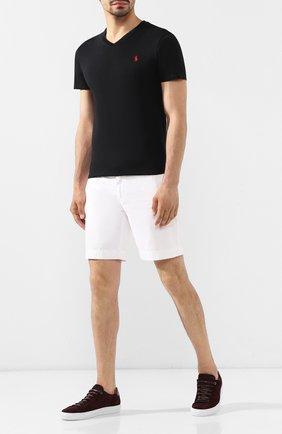 Мужская хлопковая футболка  POLO RALPH LAUREN черного цвета, арт. 710671453 | Фото 2