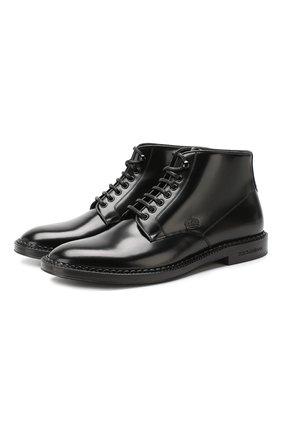 Кожаные ботинки Marsala | Фото №1