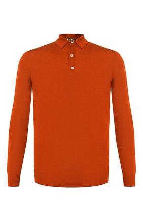Мужское шерстяное поло LORO PIANA оранжевого цвета, арт. FAI2551 | Фото 1