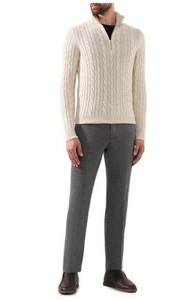 Мужской кашемировый свитер LORO PIANA кремвого цвета, арт. FAD7358 | Фото 2
