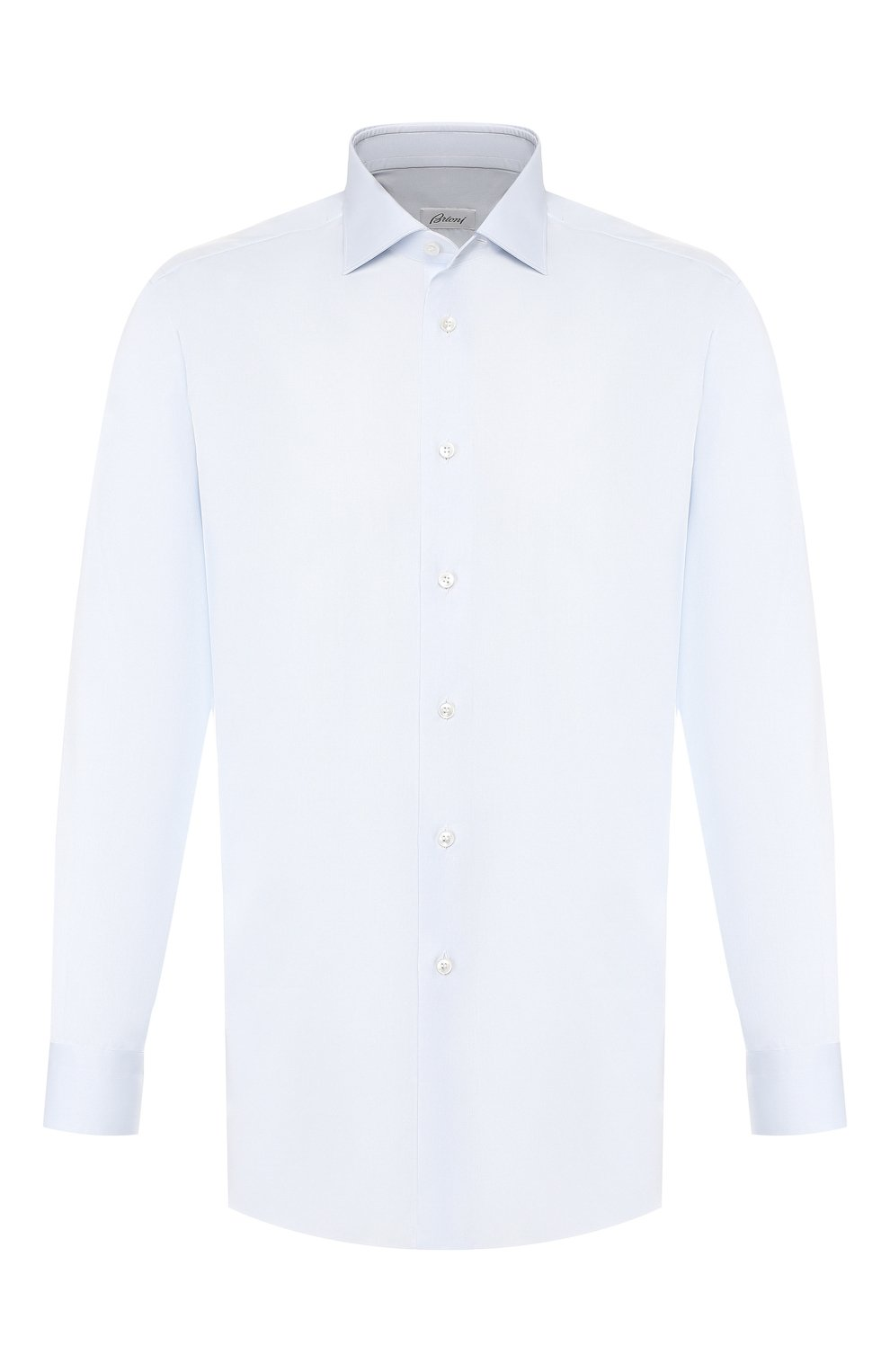 Мужская хлопковая сорочка BRIONI голубого цвета, арт. RCL8DL/PZ003   Фото 1