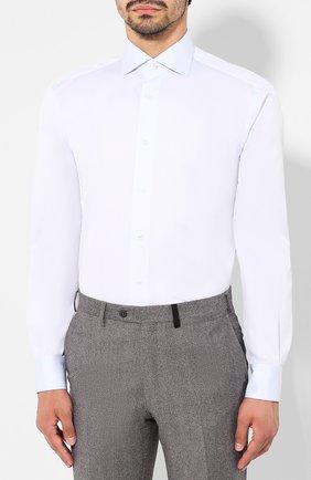 Мужская хлопковая сорочка BRIONI голубого цвета, арт. RCL8DL/PZ003   Фото 3