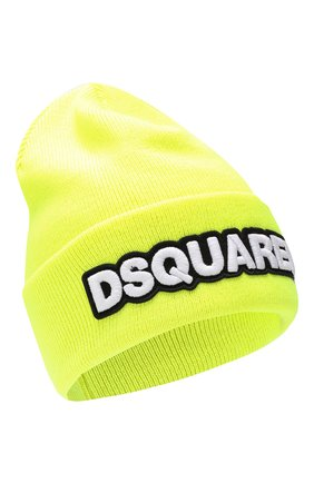 Мужская шерстяная шапка DSQUARED2 желтого цвета, арт. KNM0001 05M02265 | Фото 1