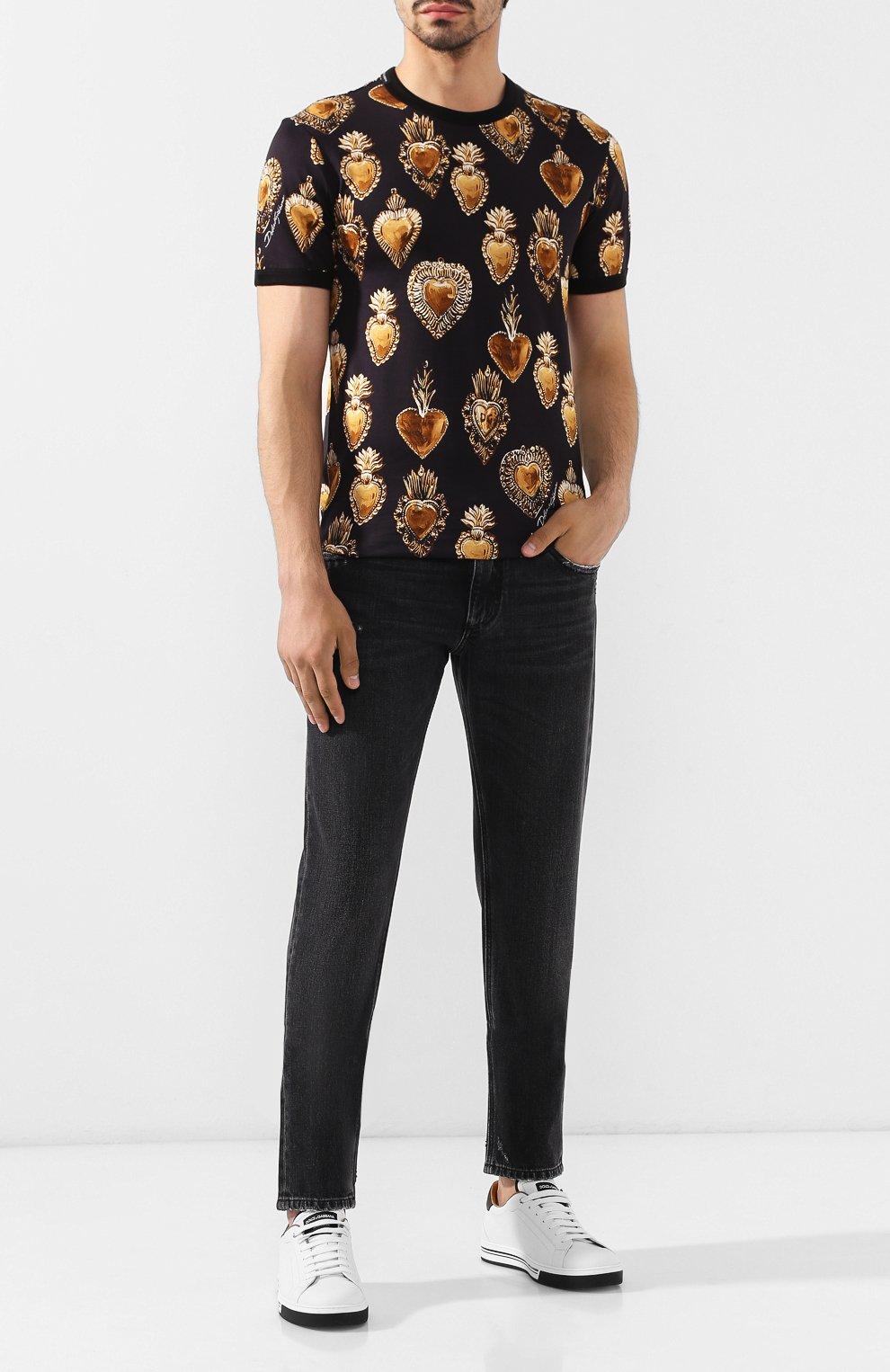 Джинсы Dolce & Gabbana черные | Фото №2