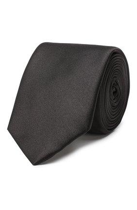 Мужской шелковый галстук DOLCE & GABBANA черного цвета, арт. GT149E/G0UAI | Фото 1
