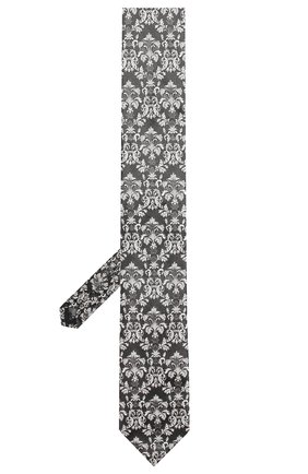 Мужской шелковый галстук DOLCE & GABBANA черного цвета, арт. GT149E/G0JIX | Фото 2