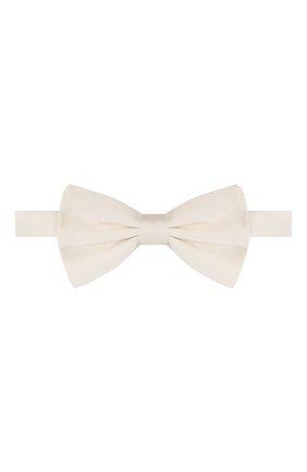 Мужской шелковый галстук-бабочка DOLCE & GABBANA белого цвета, арт. GR053E/G0UAR | Фото 1