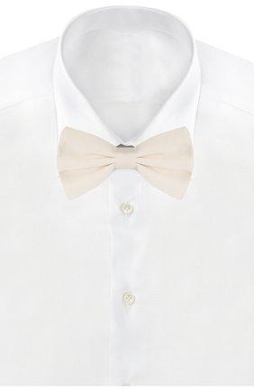 Мужской шелковый галстук-бабочка DOLCE & GABBANA белого цвета, арт. GR053E/G0UAR | Фото 2