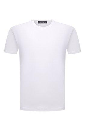 Мужская хлопковая футболка DOLCE & GABBANA белого цвета, арт. G8JX7T/FU7EQ | Фото 1
