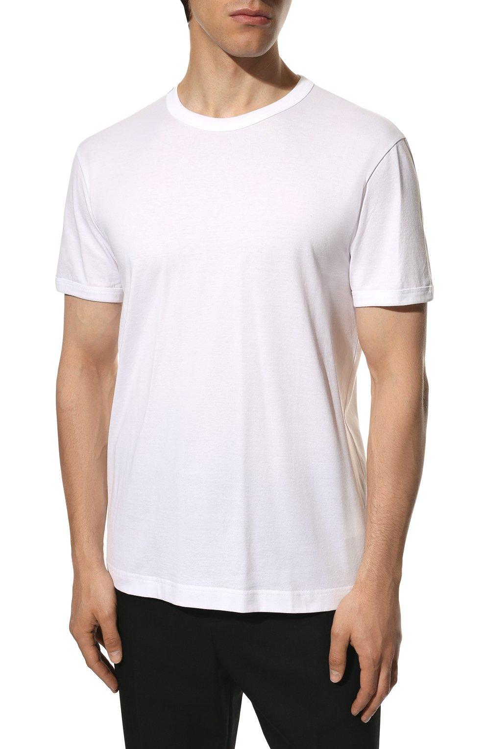 Мужская хлопковая футболка DOLCE & GABBANA белого цвета, арт. G8JX7T/FU7EQ | Фото 3