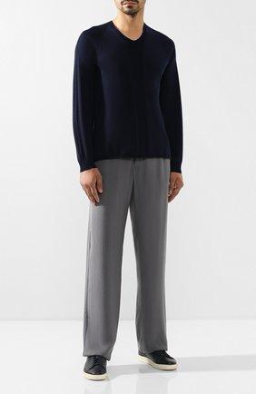 Мужской шерстяной пуловер GIORGIO ARMANI темно-синего цвета, арт. 3GSM38/SM42Z | Фото 2