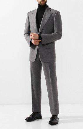 Мужской шерстяной костюм TOM FORD серого цвета, арт. 631R10/21AL43 | Фото 1 (Материал подклада: Шелк, Купро; Материал внешний: Шерсть; Рукава: Длинные; Костюмы М: Однобортный; Стили: Классический)
