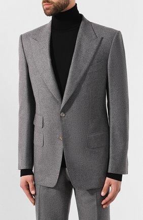Мужской шерстяной костюм TOM FORD серого цвета, арт. 631R10/21AL43 | Фото 2