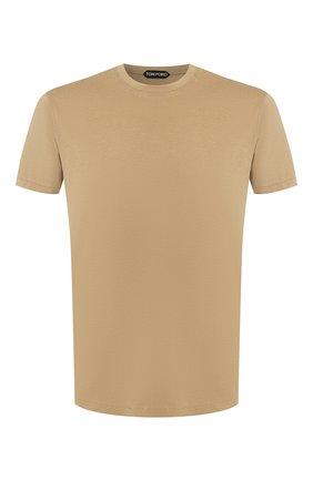 Мужская футболка TOM FORD бежевого цвета, арт. BT229/TFJ950 | Фото 1