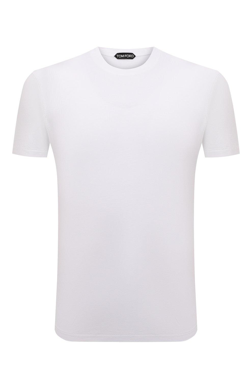 Мужская футболка TOM FORD белого цвета, арт. BT229/TFJ950 | Фото 1