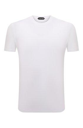Мужская футболка TOM FORD белого цвета, арт. BT229/TFJ950 | Фото 1 (Статус проверки: Проверено; Длина (для топов): Стандартные; Рукава: Короткие; Материал внешний: Хлопок, Лиоцелл; Принт: Без принта; Стили: Кэжуэл)