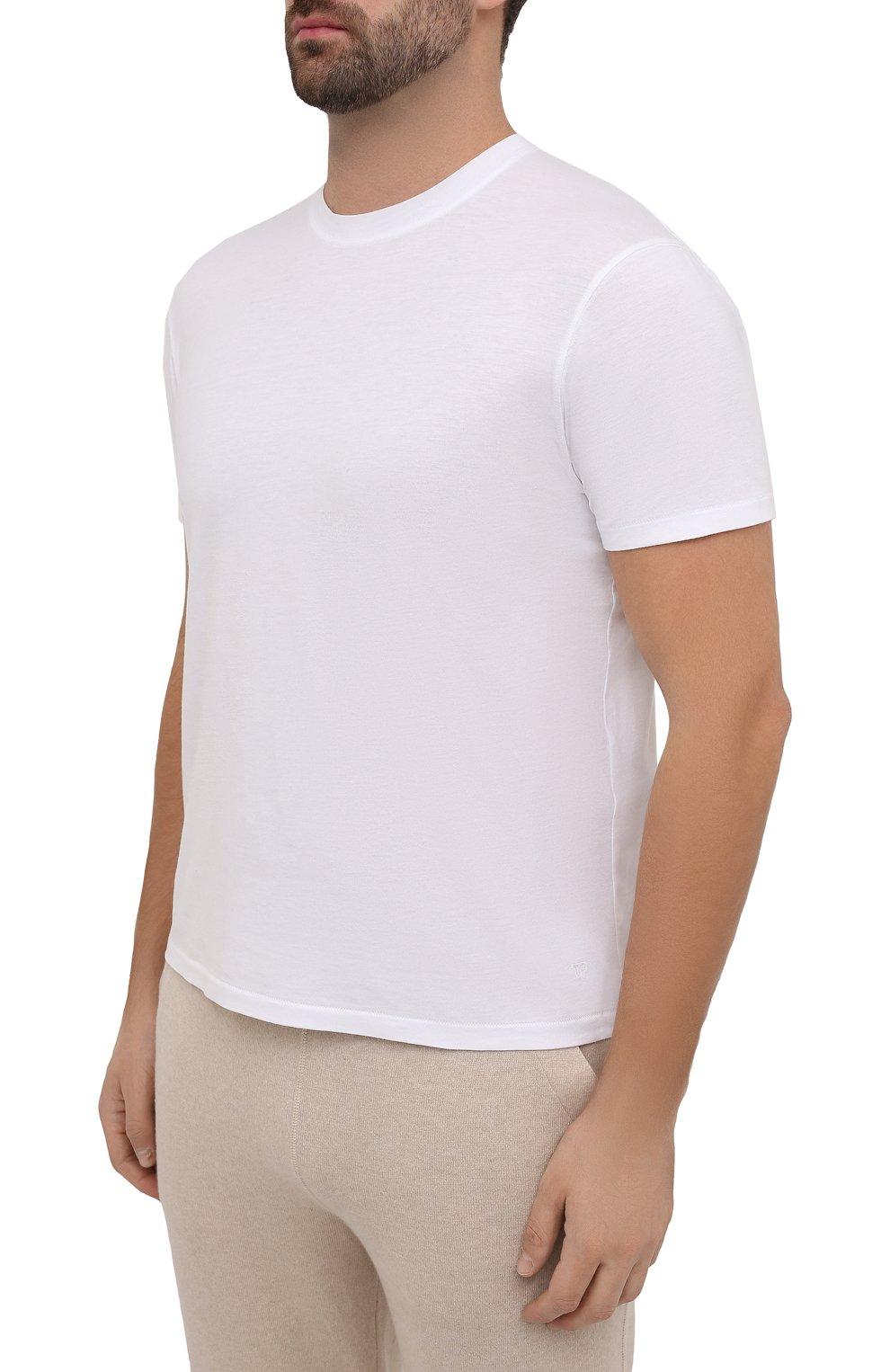 Мужская футболка TOM FORD белого цвета, арт. BT229/TFJ950 | Фото 3
