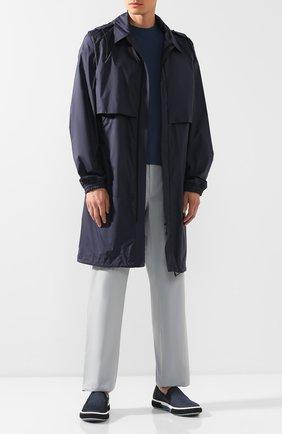Мужские текстильные слипоны PRADA синего цвета, арт. 4D3168-1OSJ-F0EKO | Фото 2