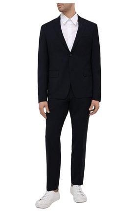 Мужские шерстяные брюки PRADA темно-синего цвета, арт. SPG29-1RII-F0008 | Фото 2