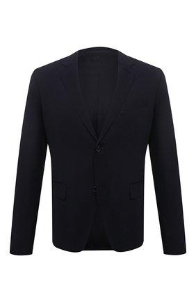Мужской шерстяной пиджак PRADA синего цвета, арт. SD020-1RII-F0008 | Фото 1