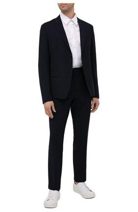 Мужской шерстяной пиджак PRADA синего цвета, арт. SD020-1RII-F0008 | Фото 2