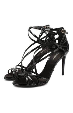 Женские кожаные босоножки keira DOLCE & GABBANA черного цвета, арт. CR0864/AA803 | Фото 1