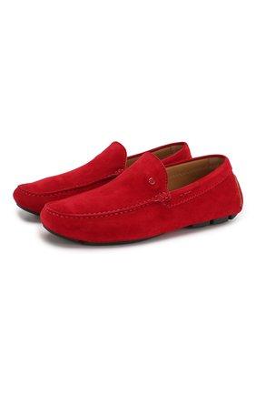 Мужские замшевые мокасины KITON красного цвета, арт. USSFARIN0010406004 | Фото 1