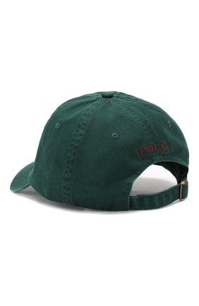 Мужской хлопковая бейсболка POLO RALPH LAUREN зеленого цвета, арт. 710667709 | Фото 2