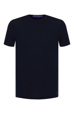 Мужская хлопковая футболка RALPH LAUREN темно-синего цвета, арт. 790508153 | Фото 1 (Материал внешний: Хлопок; Рукава: Короткие; Длина (для топов): Стандартные; Статус проверки: Проверено; Принт: Без принта; Стили: Кэжуэл)