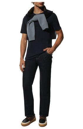 Мужская хлопковая футболка RALPH LAUREN темно-синего цвета, арт. 790508153 | Фото 2 (Материал внешний: Хлопок; Рукава: Короткие; Длина (для топов): Стандартные; Статус проверки: Проверено; Принт: Без принта; Стили: Кэжуэл)