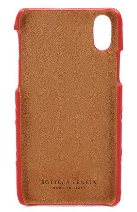 Мужской кожаный чехол для iphone x BOTTEGA VENETA красного цвета, арт. 580150/V00BL | Фото 2