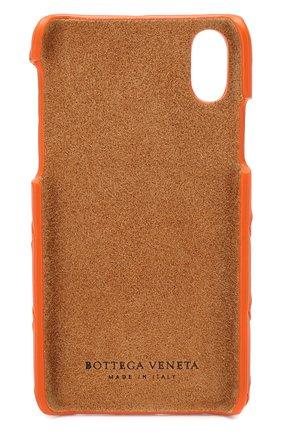Мужской кожаный чехол для iphone x BOTTEGA VENETA оранжевого цвета, арт. 580150/V00BL | Фото 2