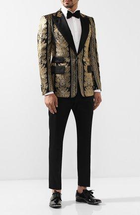 Мужской кожаные дерби ALEXANDER MCQUEEN черного цвета, арт. 575434/WHJUM | Фото 2